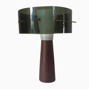 Scandinavian Table Lamp with Teak Base, 1960s