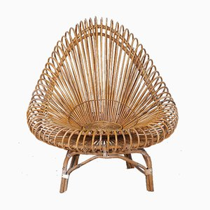 Wicker Armchair by Janine Abraham & Dirk Jan Rol for Edition Rougier, 1950s