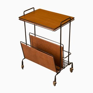 Serving Trolley with Magazine Rack, 1950s