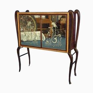 Mueble bar italiano Art Déco, años 40