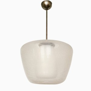Grande Lampe à Suspension Wilhelm Wagenfeld pour Peill and Putzler, 1950s