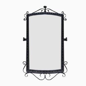 Großer Schmiedeeisen Spiegel, 1950er