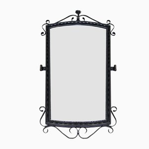 Large Wrought Iron Mirror, 1950s