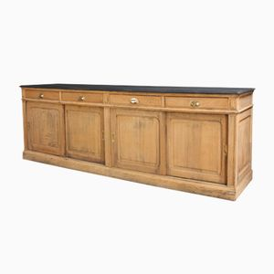 Vintage Industrial Oak Sideboard