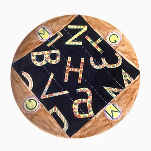 Dekorativer Keramik Teller von Giorgio Mattioli, 1989