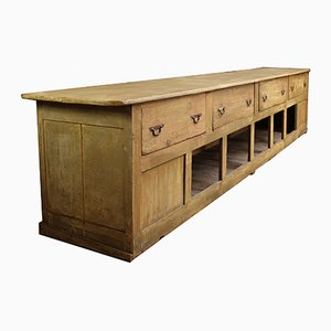 Large Haberdashery Counter in Wood, 1930s