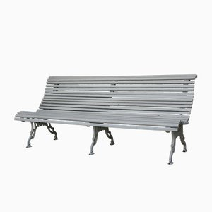 Antique White Park Bench