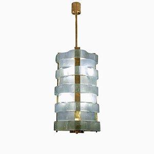 Lanterne en Laiton avec Rubans en Verre Murano par Glustin Creation