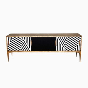 Mid-Century Belgian Sideboard with Pattern, 1960s