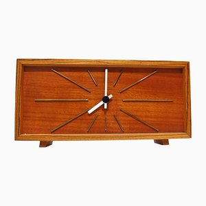 Mid-Century Table Clock in Teak from Kienzle, 1960s