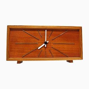 Mid-Century Tischuhr aus Teak von Kienzle, 1960er