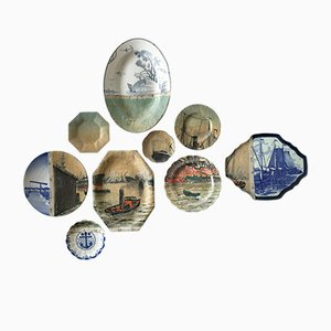 Antwerp Harbour Plates by Studio DeSimoneWayland, Set of 9