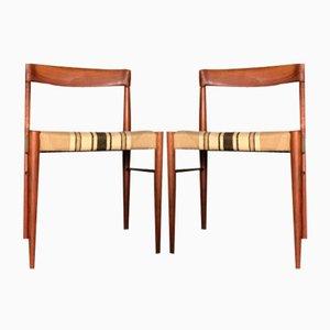 Vintage Esszimmerstühle aus Teak von H. W. Klein für Bramin, 2er Set