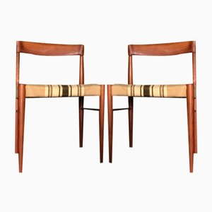 Vintage Teak Dining Chairs by H. W. Klein for Bramin, Set of 2