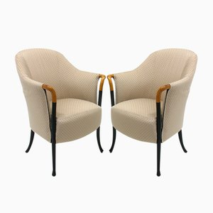 Vintage Italian Armchairs from Giorgetti, Set of 2