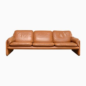 Vintage DS 61 Sofa in Cognac Leather from de Sede