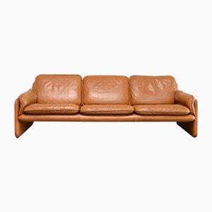 Vintage DS 61 Sofa in cognacfarbenem Leder von de Sede