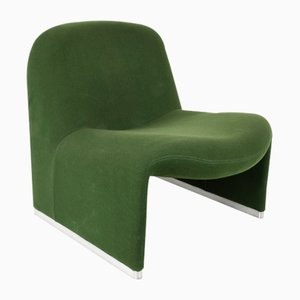 Green Alky Lounge Chairs by Giancarlo Piretti for Castelli, 1970s, Set of 2