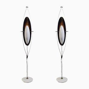 Stehlampen mit weißem Marmorfuß von Goffredo Reggiani, 1950er, 2er Set