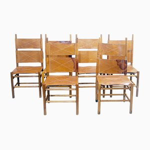 Kentucky Dining Chairs by Carlo Scarpa for Bernini, 1970s, Set of 6