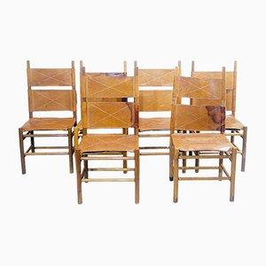 Kentucky Esszimmerstühle von Carlo Scarpa für Bernini, 1970er, 6er Set