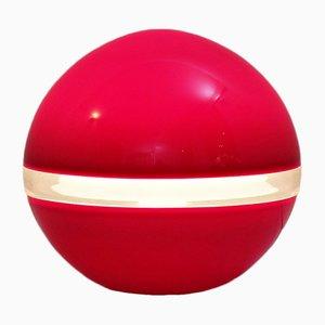 Lámpara de mesa italiana en rojo de Carlo Nason para Mazzega, años 70