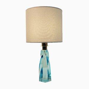 Lampe de Bureau en Verre de Murano Turquoise, 1970s