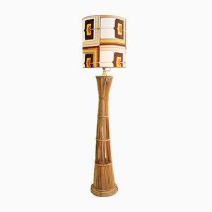 Stehlampe aus Rattan, 1960er