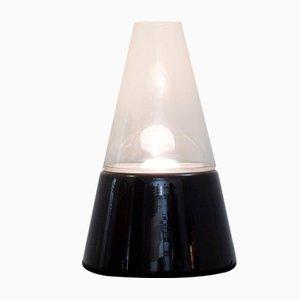 Lámpara de mesa italiana de vidrio, años 70