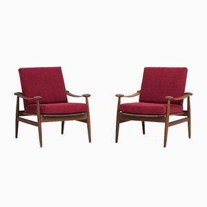 Model FD 133 Armchairs by Finn Juhl for France & Søn, 1954, Set of 2