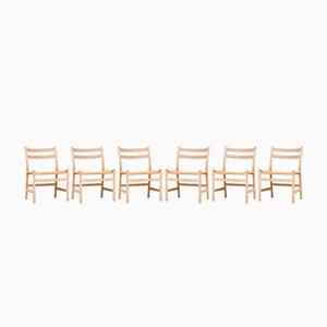 Chaises de Salle à Manger Modèle CH47 par Hans J. Wegner pour Carl Hansen & Søn, 1960s, Set de 6
