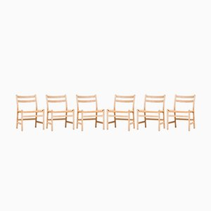 Model CH47 Dining Chairs by Hans J. Wegner for Carl Hansen & Søn, 1960s, Set of 6