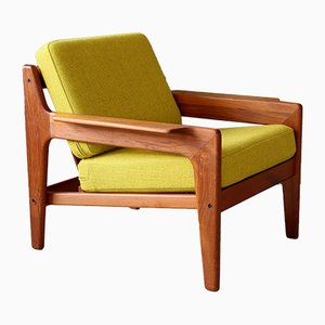 Poltrona de teca de Arne Wahl Iversen para Komfort, años 60
