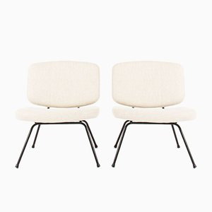 CM190 Low Chairs by Pierre Paulin for Thonet, 1950s, Set of 2