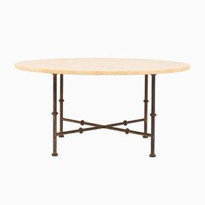 Table Basse Vintage en Métal et Pierre, 1970s