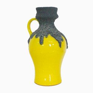 Jarrón Fat Lava en amarillo de Roth Keramik, años 60
