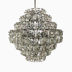 Großer Kristallglas Kronleuchter von Kinkeldey, 1960er