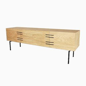 Modernist Belgian Oak Sideboard, 1970s