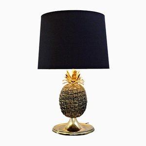 Lampe de Bureau Ananas en Laiton, 1970s