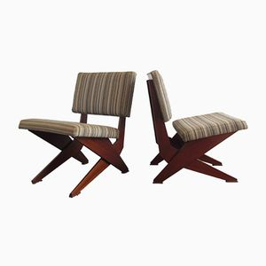 Mid-Century Modern Lounge Chairs, 1950s, Set of 2
