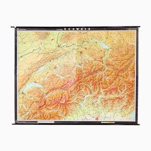 Deutsche Karte der Schweiz von VEB Hermann Haack, 1970er