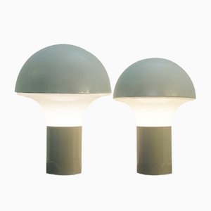 Italienische Tischlampe aus Glas & Metall, 1970er
