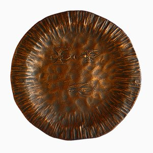 Copper Plate by Egidio Casagrande for Bragalini, 1950s
