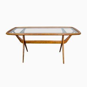 Tavolino da caffè in ciliegio di Cesare Lacca per Cassina, anni '60