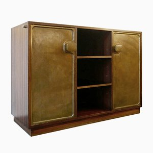 Cabinet with Two Bronze Doors, 1960s