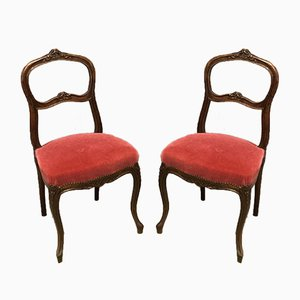 Vintage Louis XV Style Side Chairs, Set of 2