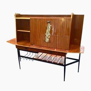 Mueble bar italiano con diseño abstracto, años 50
