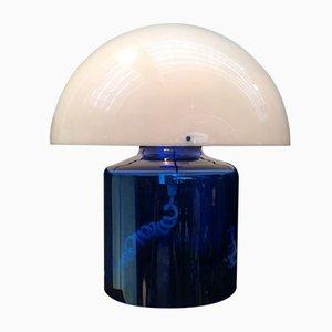 Lámpara de mesa francesa de cristal y plástico de Jean Daum, años 70