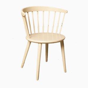 Model V9 White Spindle Back Chair by Yngve Ekström for Nässjö Stolfabrik, 1960s