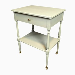 Antique French Side Table on Casters